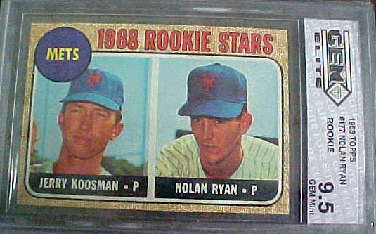 Coach 39 s corner 1968 topps nolan ryan rookie card graded for Corner lots more valuable