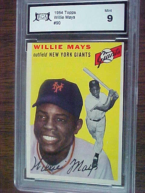 Coachs Corner 1954 Topps Willie Mays Baseball Card Graded