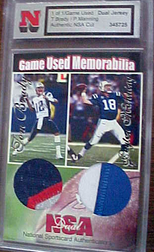 reputable site 6524f 5a8ee Coach's Corner - Tom Brady & Peyton Manning DUAL GAME WORN ...