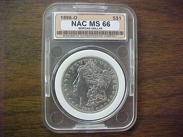 Coach's Corner - 1896-0 Morgan Silver Dollar GRaded MS 66--MINT STATE ...