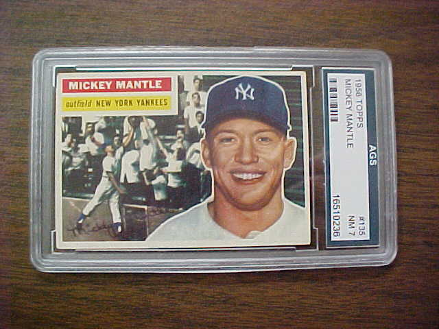 Coach 39 s corner 1956 topps mickey mantle baseball card for Corner lots more valuable