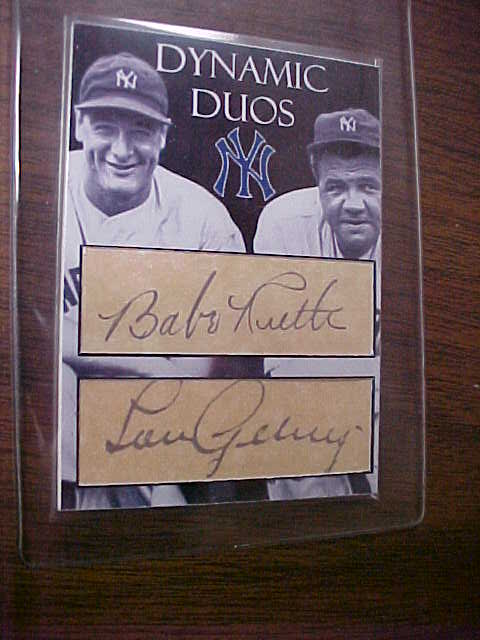 Babe Ruth And Lou Gehrig Signed Picture