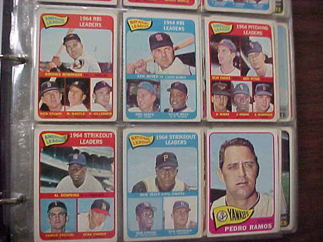 Coach 39 s corner 426 different 1965 topps baseball cards for Corner lots more valuable