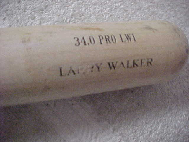 This outstanding opportunity is a 34.0 PRO LWI baseball bat from Old Hickory that was used in actual MLB action by '97 NL MVP Larry Walker.  It shows nice usage, but is in absolutely EX+ condition, and comes with a full LOA directly from the Colorado Rockies for rock solid authenticity!  Valued into the low thousands!
