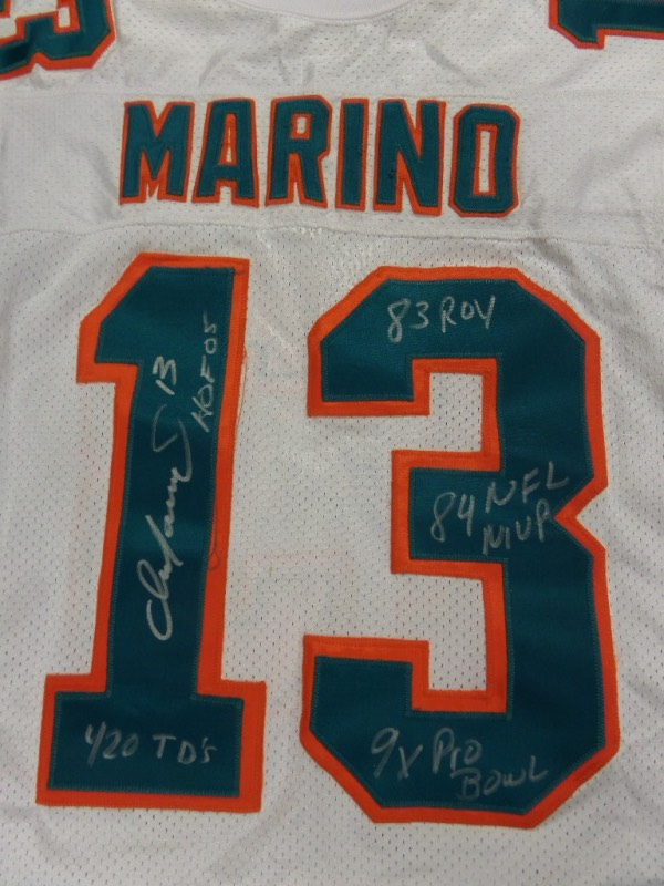 newest ff3d6 94445 Coach's Corner - Dan Marino hand signed/inscribed Miami ...